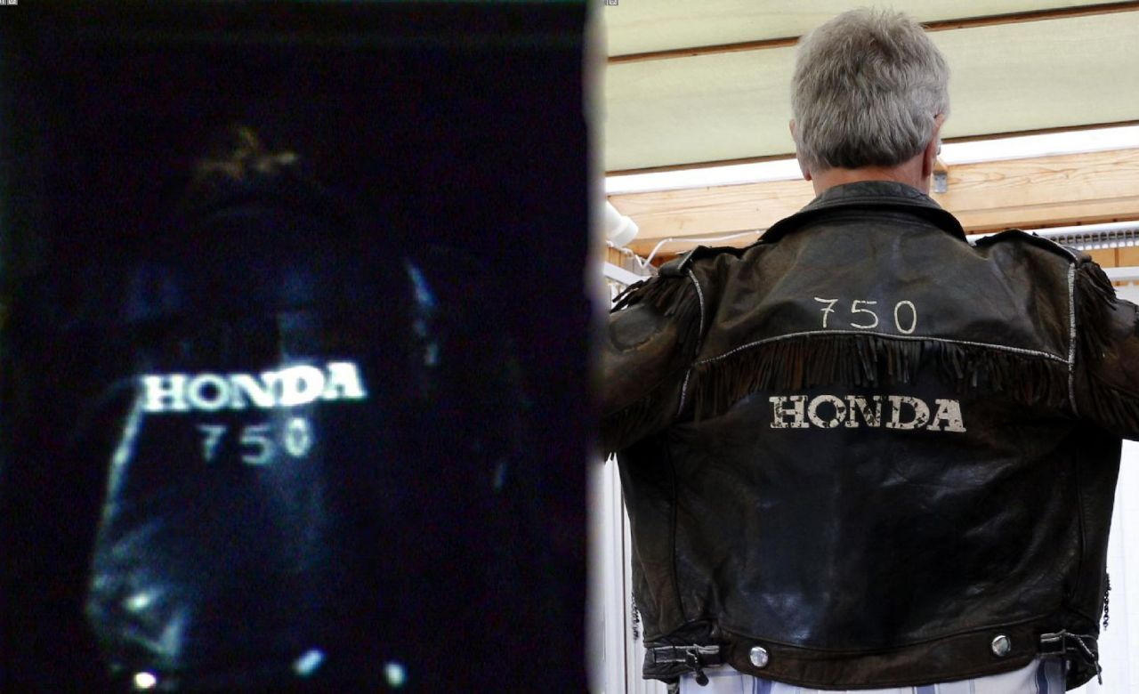 Same jacket, same Rider, 1971 vs 2014, Foto 1971 Allan Andersson, Foto 2014 Drago Prvulovic